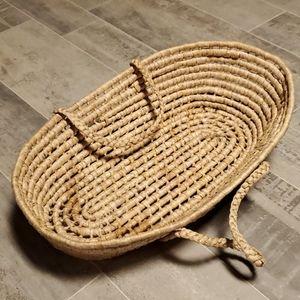 Natural Blonde Husk Woven Basket/Bed